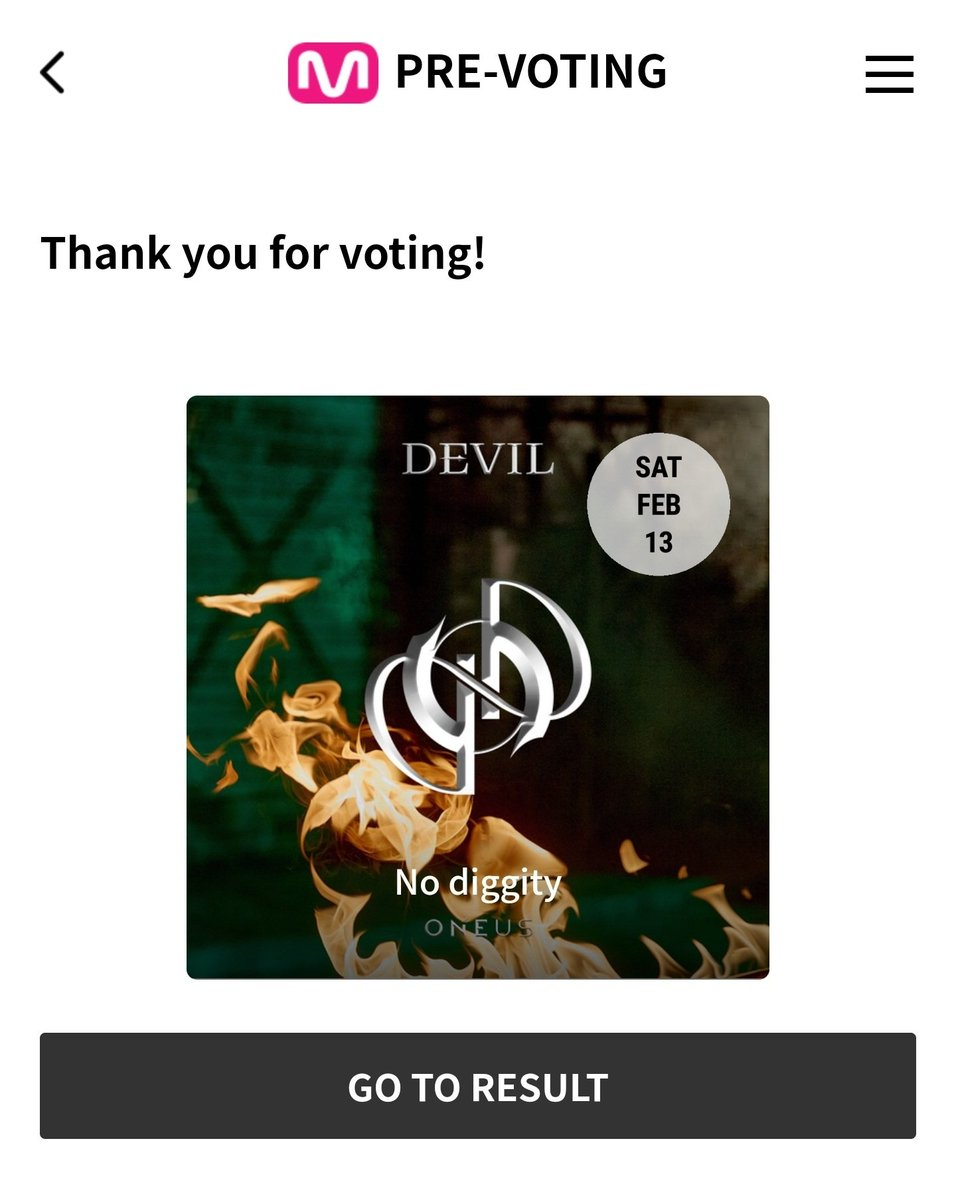 🚨Please vote on MWave app or website!🚨 No Diggity is still 6th place! 📋:  @official_ONEUS #ONEUS #원어스 #DEVIL #데빌  #NO_DIGGITY #반박불가 #ONEUS_DEVIL_NoDiggity #원어스_데빌_그누구도_반박불가