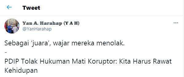 Sindiran Deputi Balitbang DPP Partai Demokrat, Yan Amarullah Harahap kepada PDIP