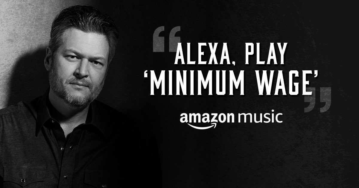 "Did y'all know Alexa will play a song with just some lyrics!? #AskAlexa to ""play the song that goes 'make a man feel rich on Minimum Wage'"" and let us know what happens... 👀 @amazonmusic -Team BS"