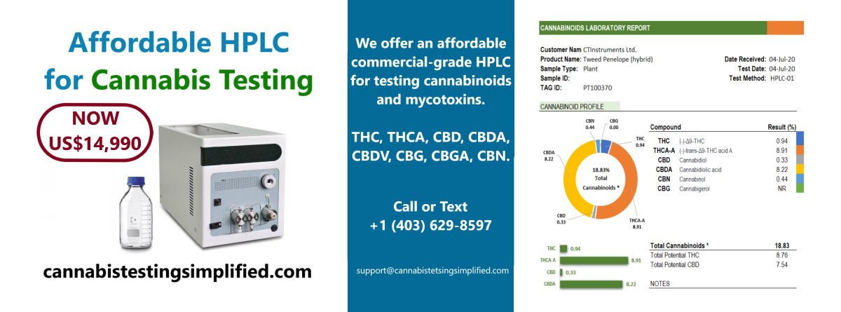 cannabistest1: We are looking for sales agents for our $14,990 HPLC for testing cannabinoids.  #hplc #testing #Mmemberville #CannabisNews #Hemp #Canna #Europe #CannabisCommunity #cbdproduct #cannagrower #cannabisculture #cannabisindustry #europe #cannabinoids #cbdoil #Spain #hempoil #hempgrower