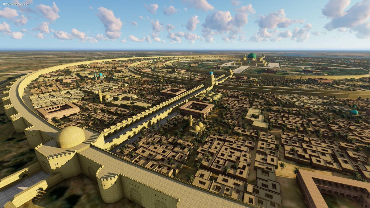 Replying to @iamafroze: A 3D model of what Baghdad looked like in the 8th century.