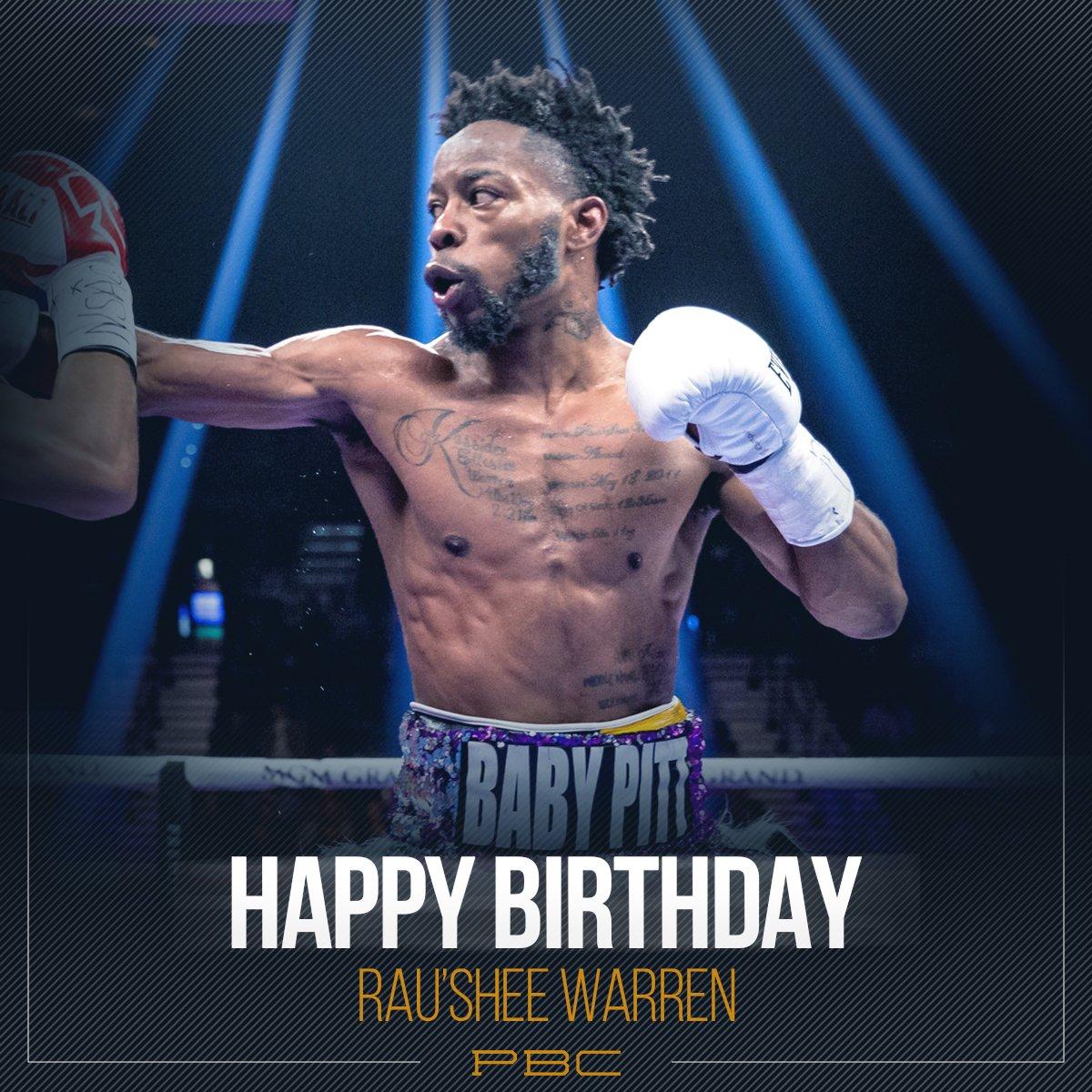 LIKE & RETWEET to wish former world bantamweight champion @RauSheeWarren a Happy Birthday! #TeamWarren #PBCBirthdays