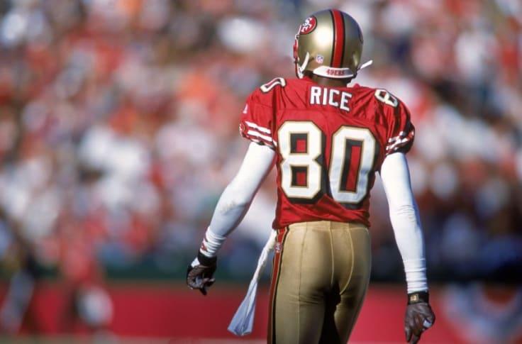 Com 208 touchdowns na carreira, o lendário Jerry Rice, com passagens por Niners e Raiders, é o recordista da Liga no quesito.  208 também é a quantidade de dias que nos separam da próxima temporada da #NFL.  #nflnaespn #nflbrasil #NFLTwitter #nflfoxsports