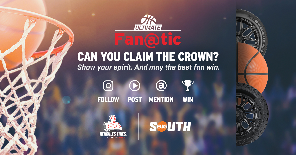 Sure, you're a @BigSouthSports fan. But are you the #HerculesUltimateFanatic? Join Hercules Tires on our quest to find the one fan who can rule them all. Follow, post and tag to be entered to win exclusive swag. herculestire.com/ultimatefanatic