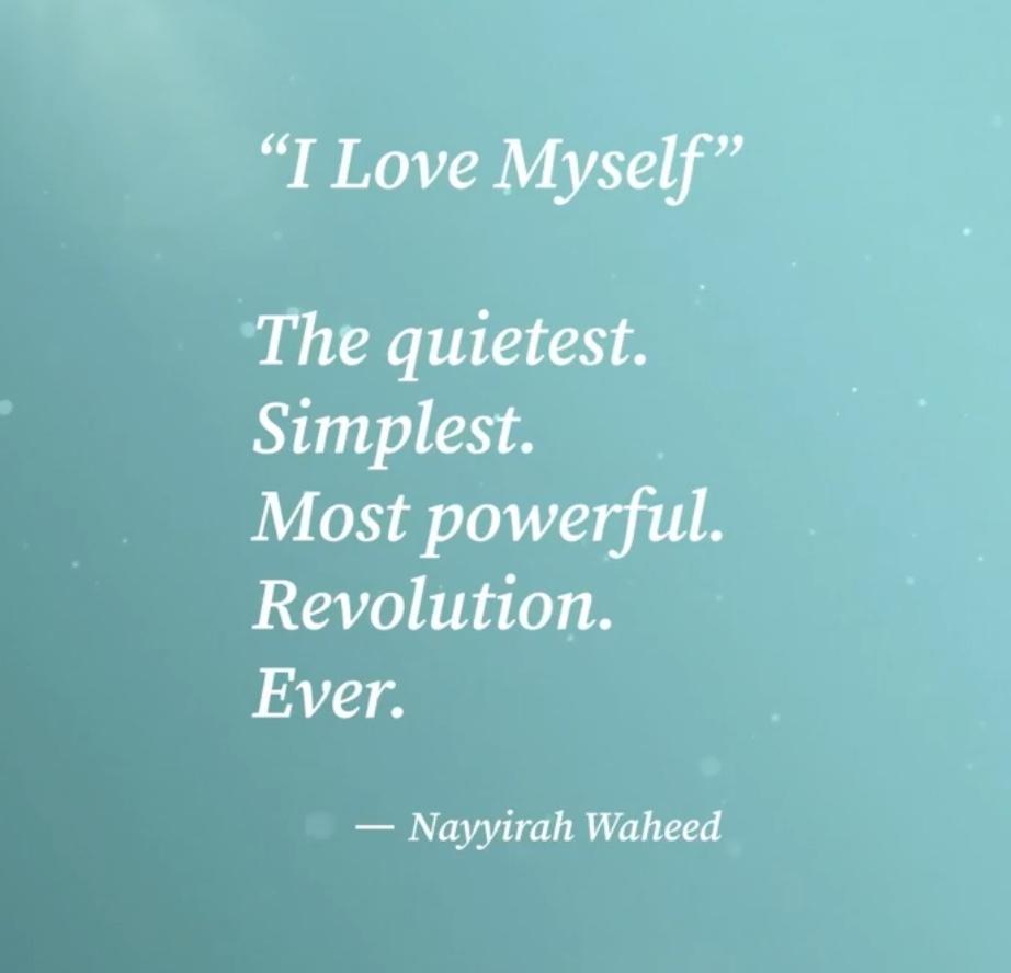 Loving yourself is revolution! @Oprah #OprahandWW