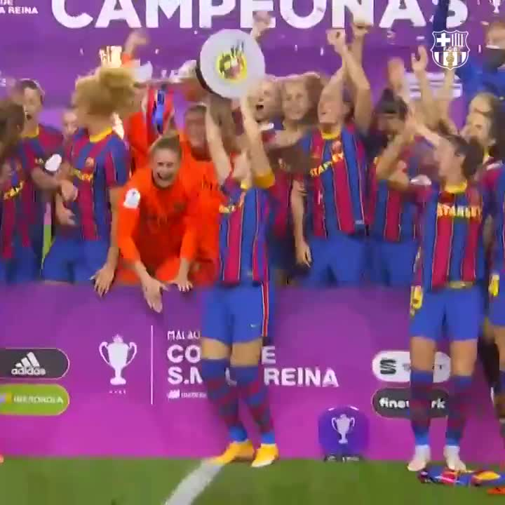 🏆 Campiones de la Copa de la Reina! 🙌  @FCBfemeni 🔵🔴