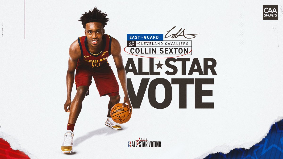 One retweet counts as 𝟮 𝗩𝗼𝘁𝗲𝘀 today to get #CollinSexton in his first #NBAAllStar appearance! @CollinSexton02 https://t.co/pxxRz7wpQ9