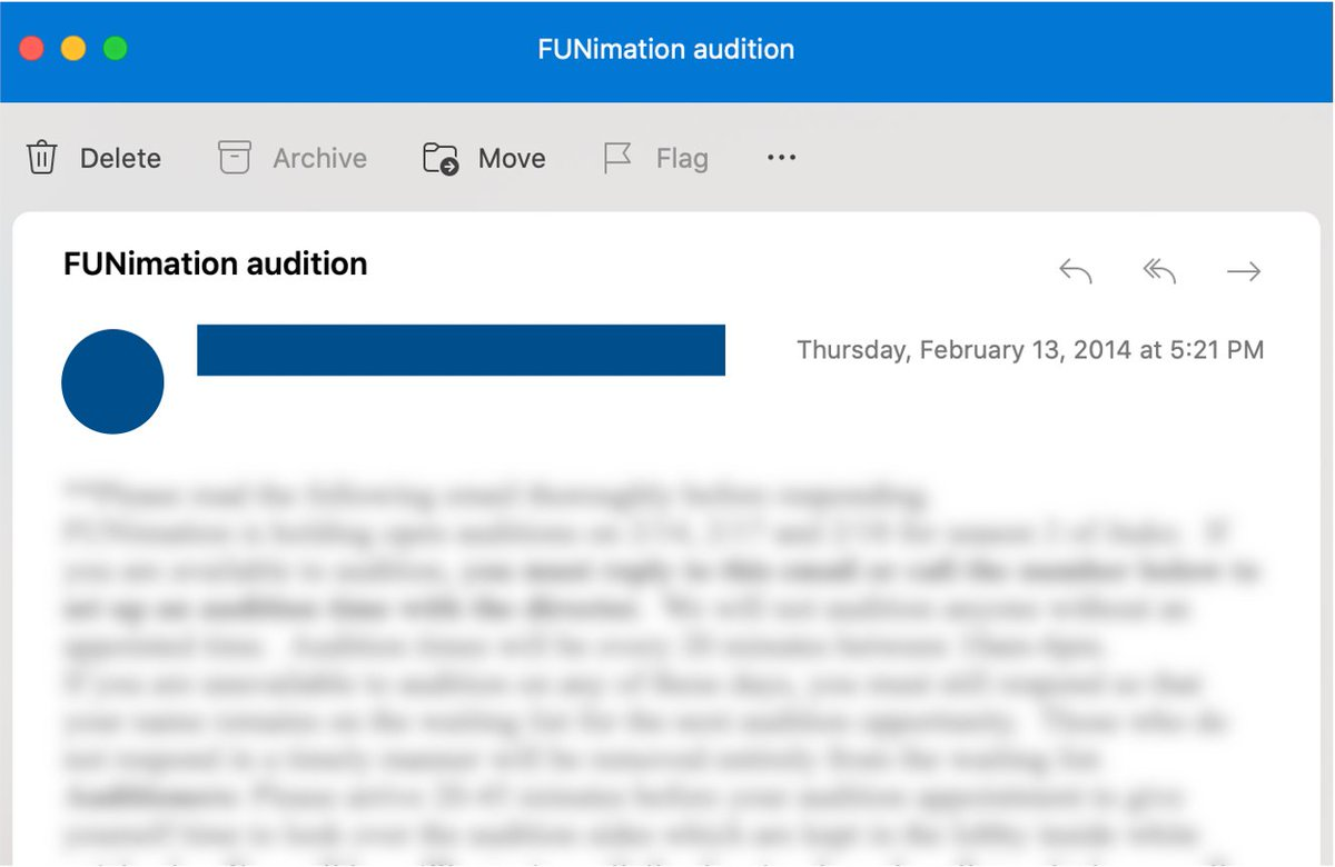 Today, I went to go look up my #Funiversary and discovered TODAY is the anniversary of my first audition 7 years ago! What are the odds?! I got this audition 4 YEARS AFTER I first emailed @FUNimation in 2010, so never give up on your dreams! #voiceacting #nevergiveup #anniversary