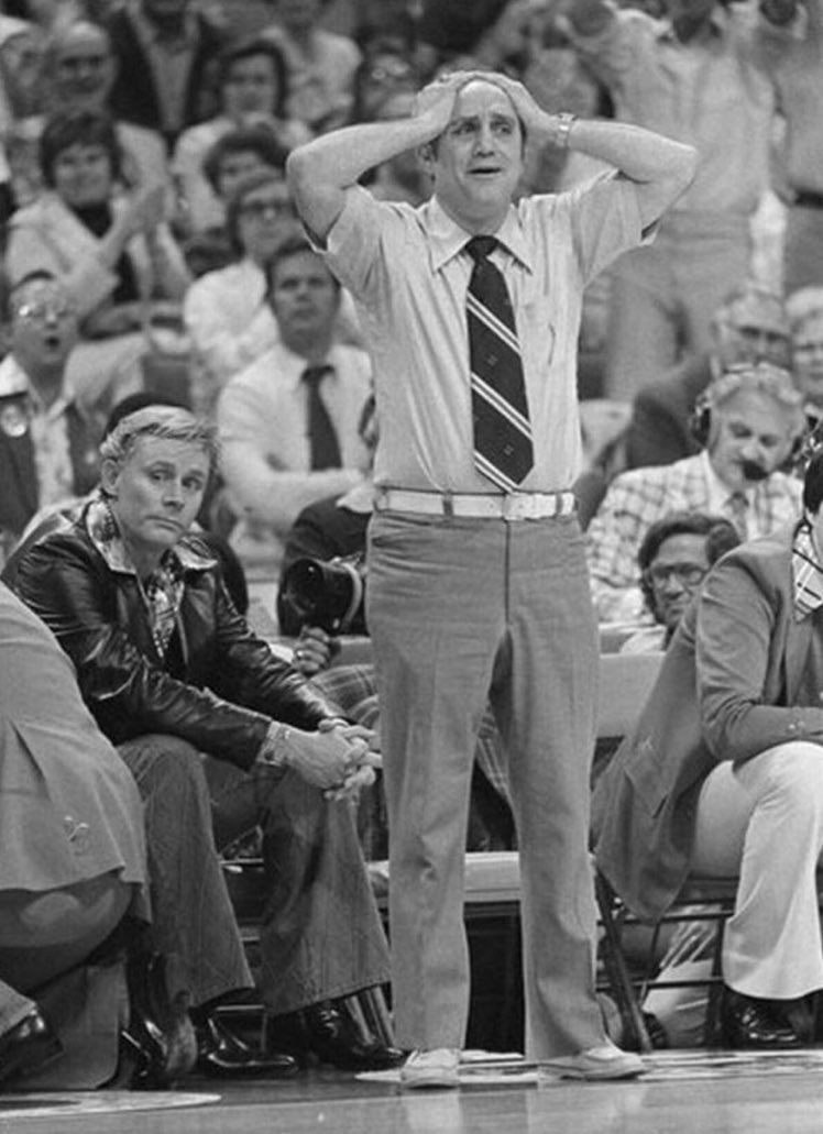 What's better: Jerry Tarkanian looking like a cast member on Barney Miller or his assistant looking like a drug dealer Kojak brought down?