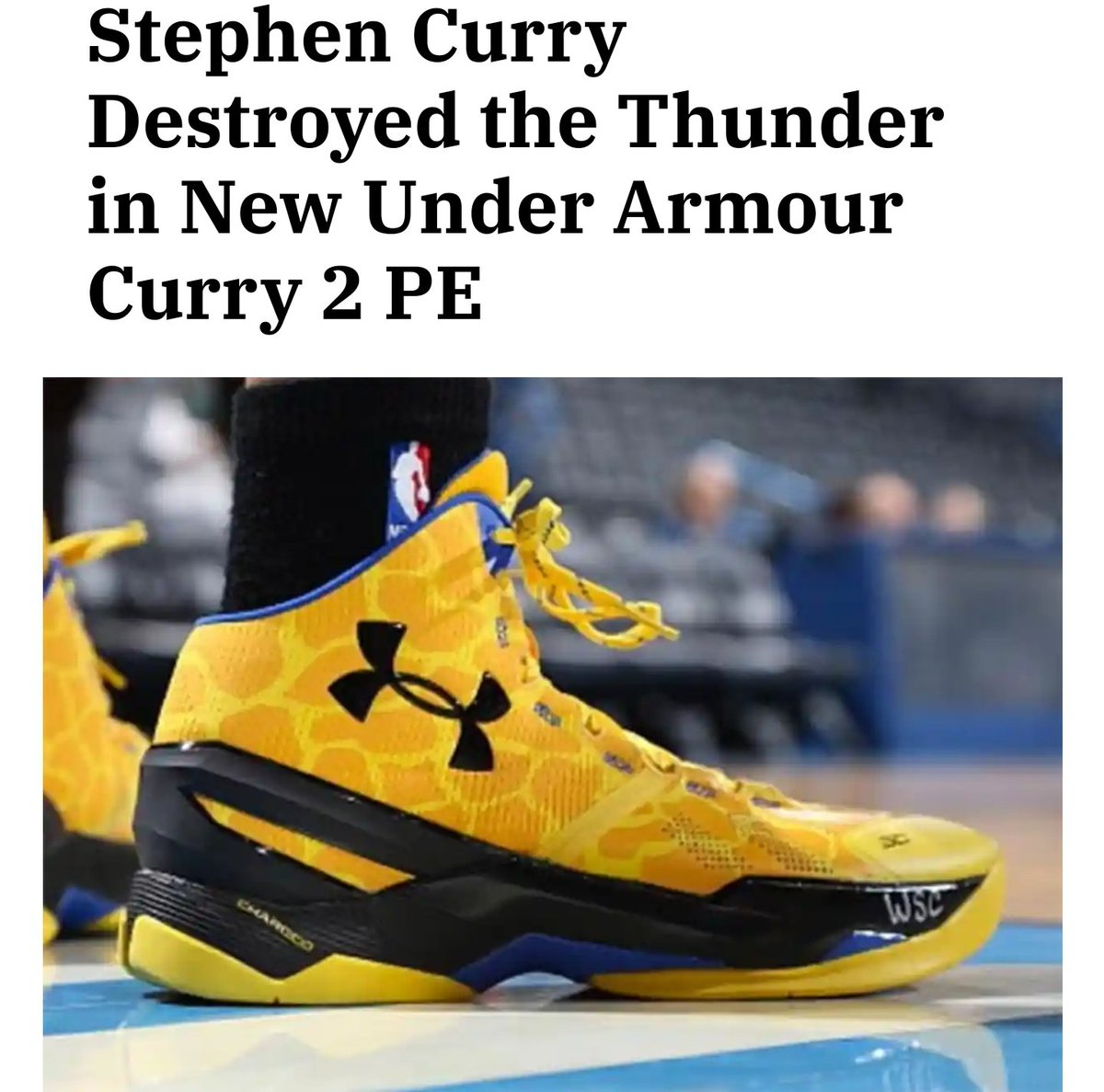 @zDGHOOPS @PublicServant87 @StephenCurry30 @warriorsworld @TheWarriorsTalk @FlashSole #CurryBrand need to release these. Iconic shoe from that iconic game.