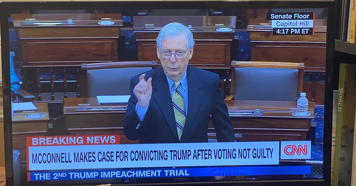 Replying to @DelWilber: Quite the chyron CNN