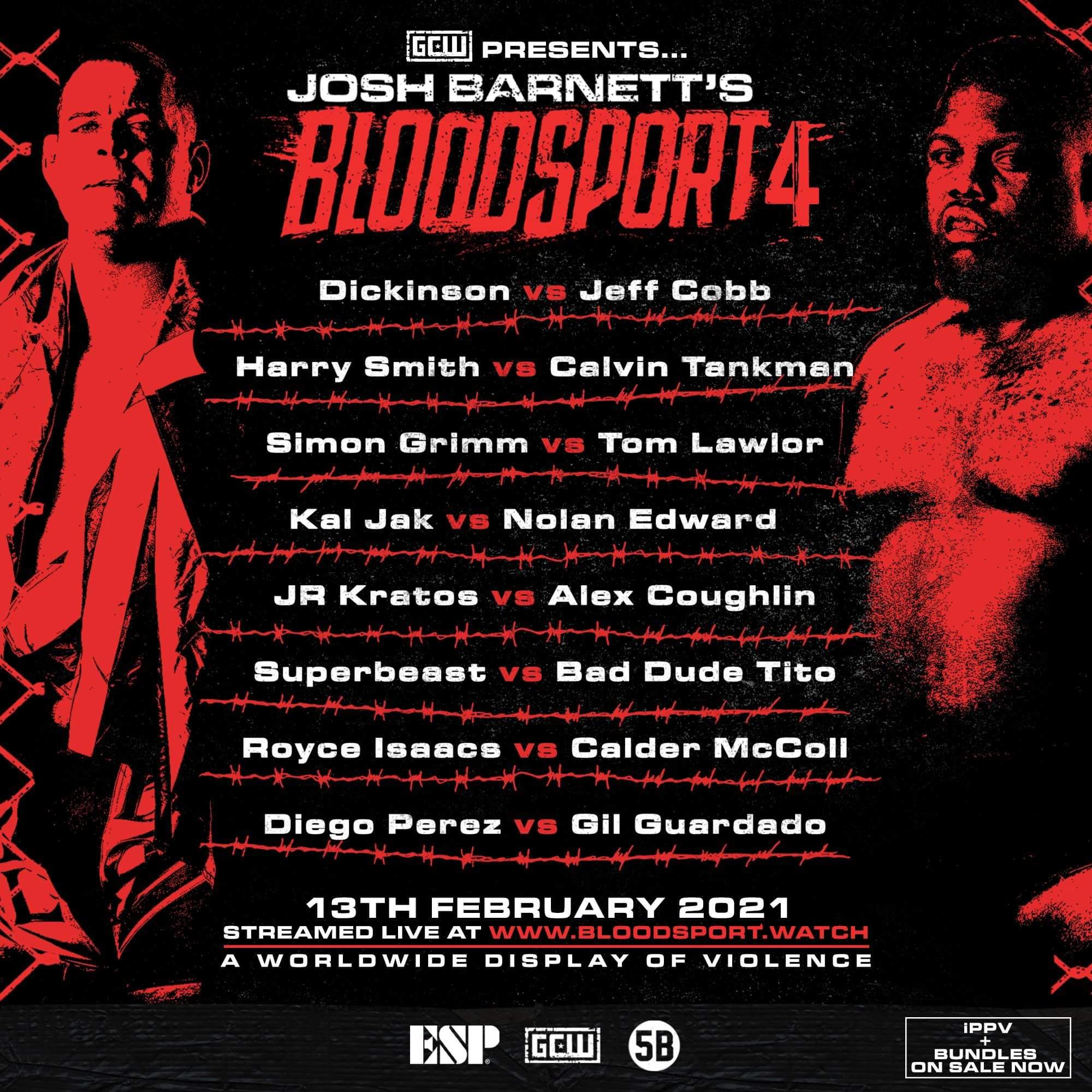 "Josh Barnett's ""Bloodsport 4"" Results (2/13): Jeff Cobb Vs. Chris Dickinson"