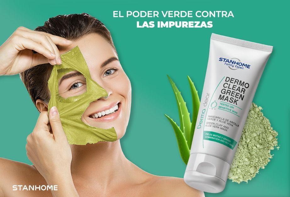 Del poder verde de la naturaleza a tu belleza 💚😌✨  ¡Descubre la mascarilla Dermo Clear Green Mask! Disfruta de los beneficios de la arcilla verde y el aloe vera para eliminar impurezas y células muertas. 🤜❌  #StanhomeMexico #MerecesLoMejor #FamilyExpert #DermaCare https://t.co/cQNtrKeFjf