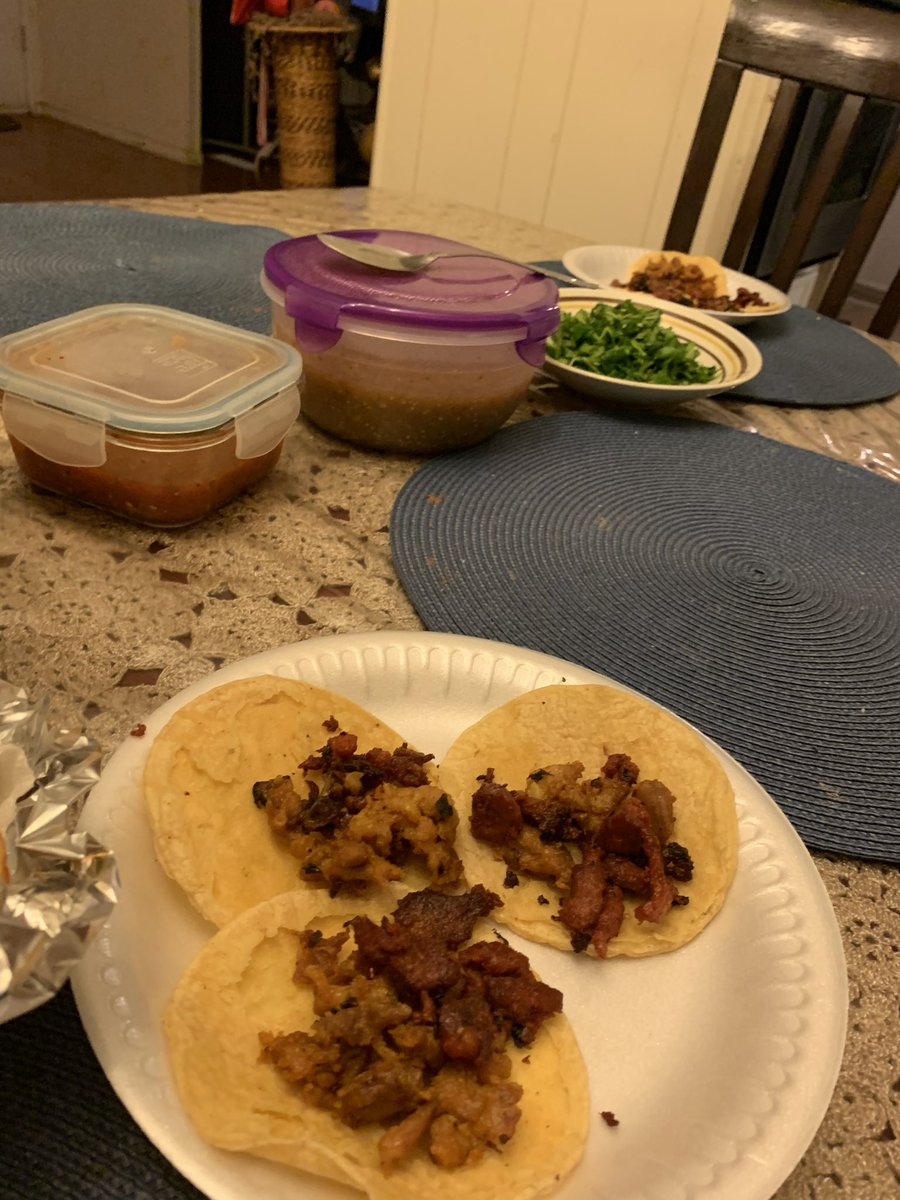 These are tacos and the salsas/cilantro you put on top... not a bottle of ketchup in sight since it doesn't go on tacos @Ccrypto5. That is all 😂😂