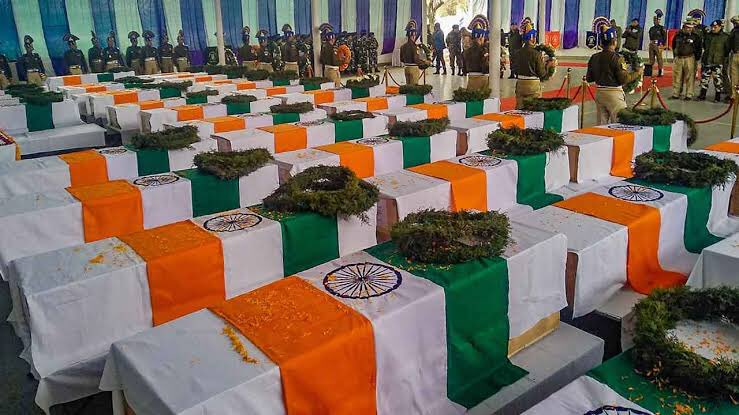 India is not built by bricks & cement! It is the blood of our bravest which holds our country together! Never Forget! #PulwamaAttack