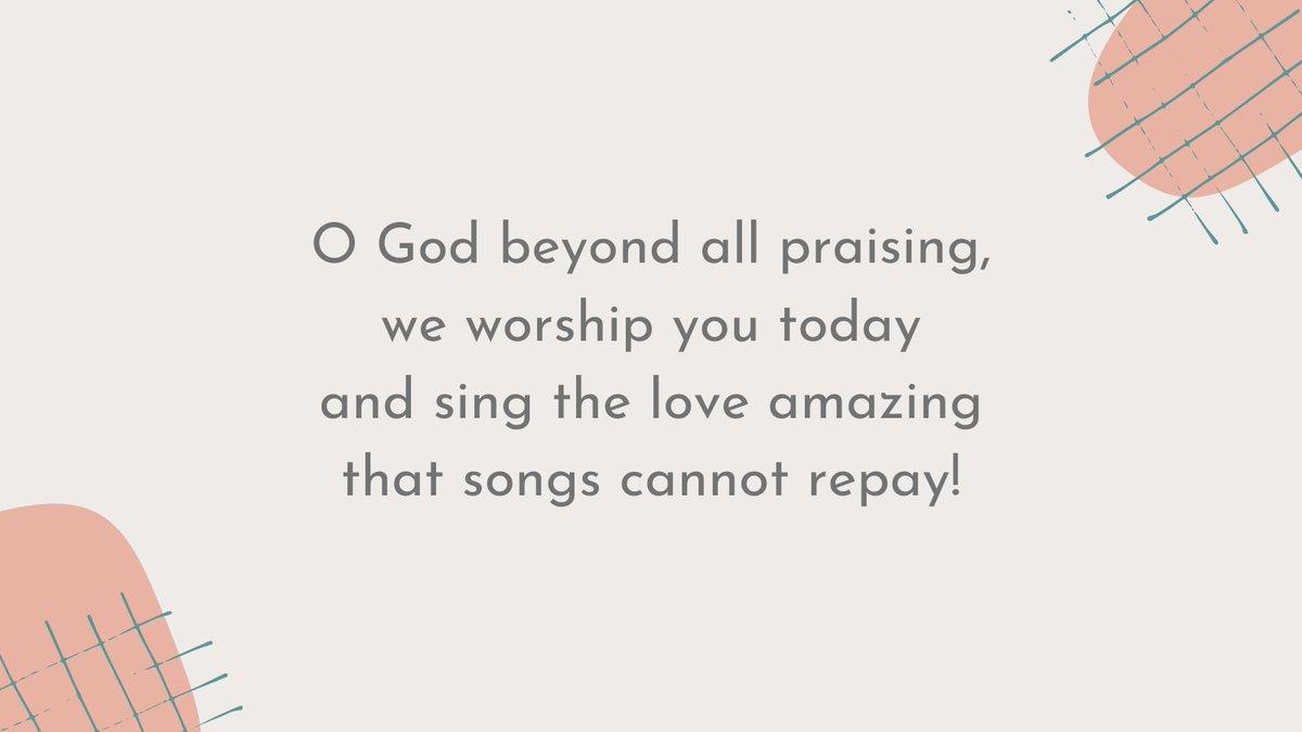 #SundayHymn lyrics from Michael A. Perry