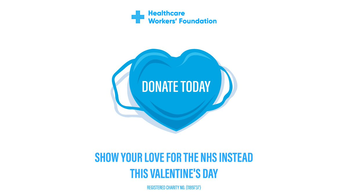 Your Valentine's Day might be on the shelf this year, but you can still show NHS workers how much you love them. Donate and #helpthemhelpus. Visit buff.ly/3b03AVp now. 💙 #HWF #ValentinesDay