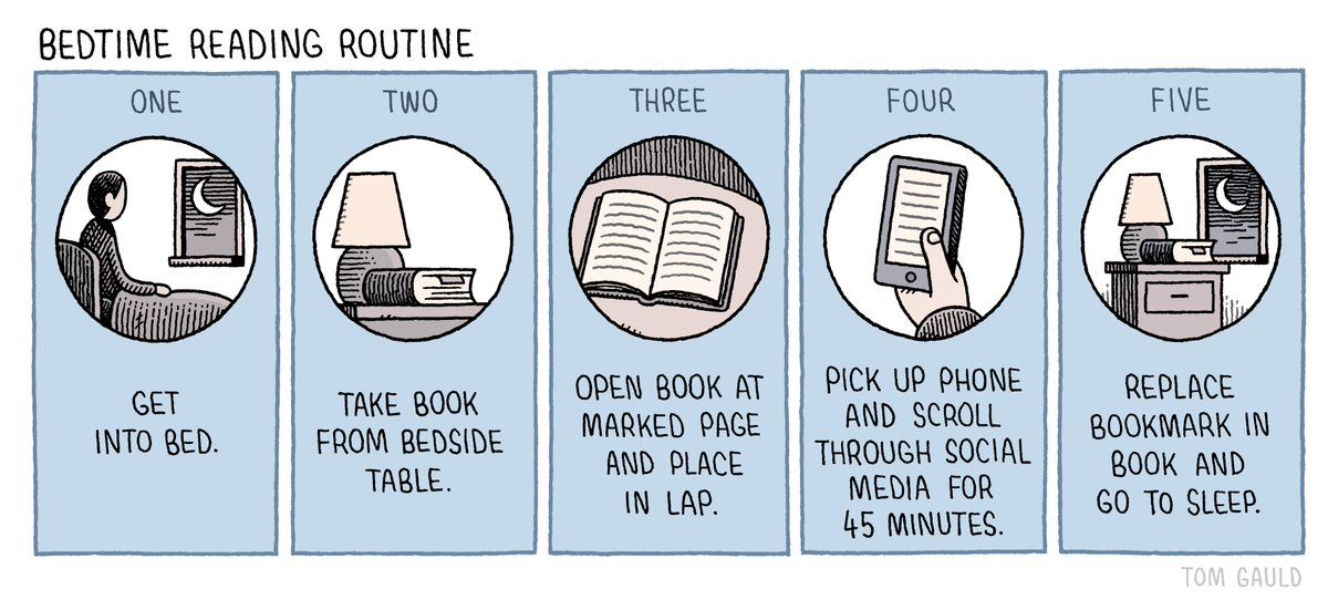 'Bedtime reading routine' (my cartoon for yesterday's @guardianreview)