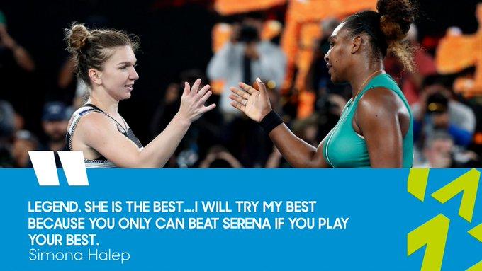 Simona Halep vs Serens Williams bertemu di perempat final