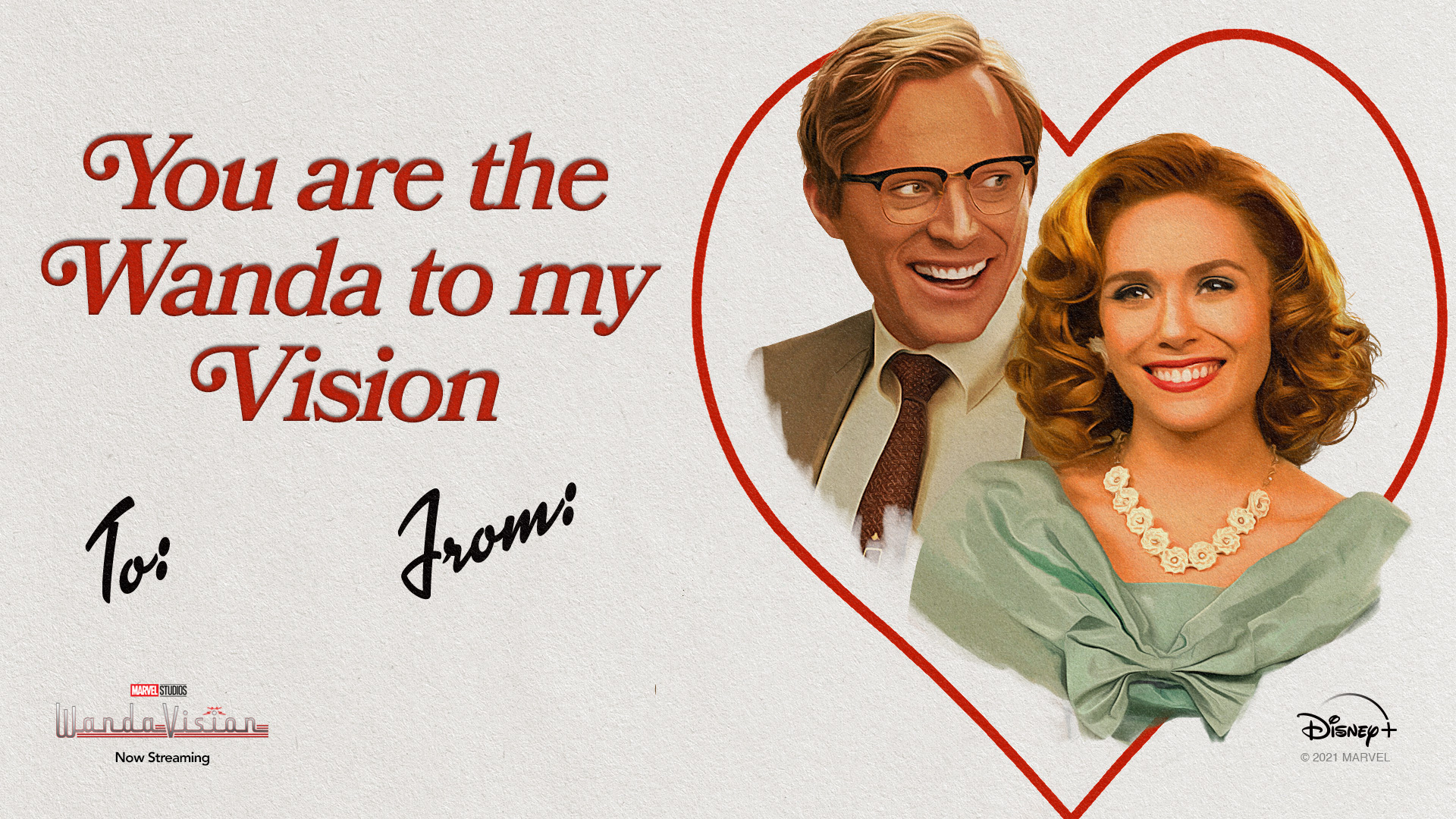 WandaVision Valentine's Day Card