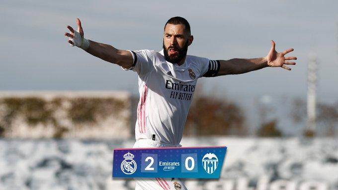 Skor akhir Real Madrid vs Valencia