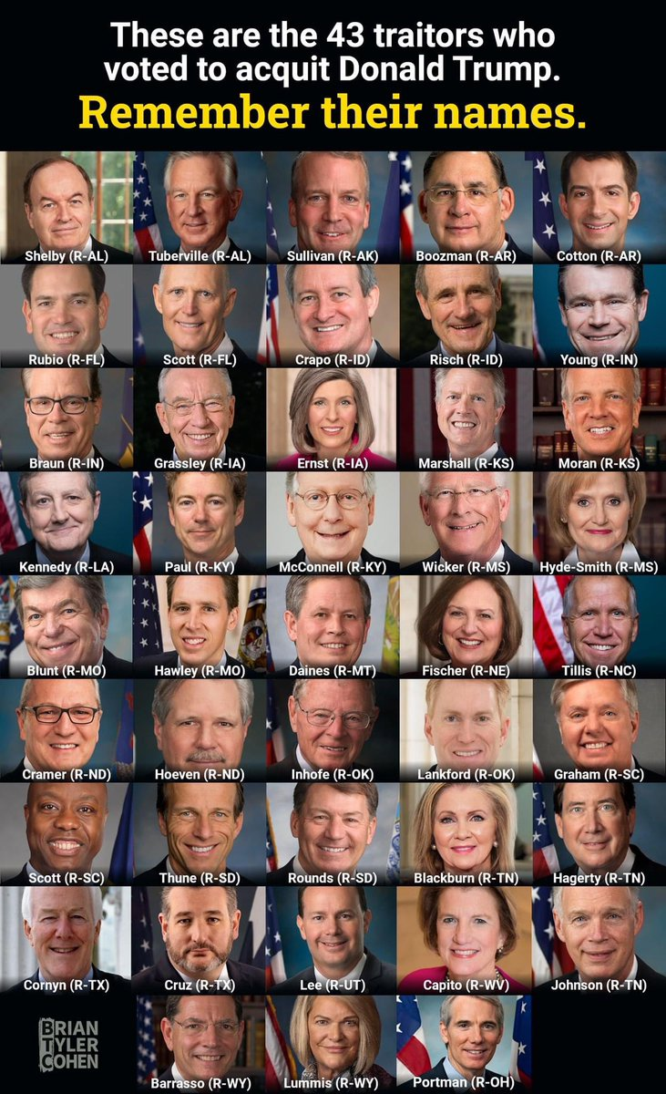 #LeaveTheGOP they took an oath to protect the Constitution of the United States, they wiped their feet on it like it was a door mat..and the officer who died had no significance to them, shame on all of them...