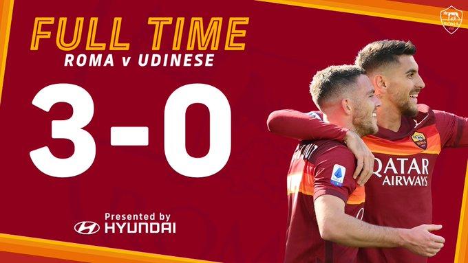 Skor akhir AS Roma 3-0 Udinese