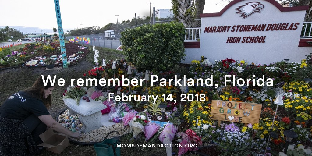 Three years ago today, a gunman entered Marjory Stoneman Douglas High School in Parkland, FL, and killed 17 students and staff members and injured 17 more.  We hold the victims and survivors in our hearts and honor them, and all victims and survivors of gun violence, with action.