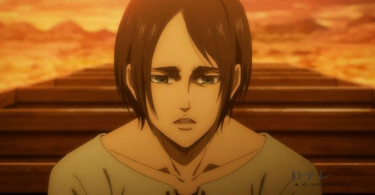 #AoTSeason4NHK #AOTASSAULT  . . . goddamn why is his forhead so big I'm near crying Eren simps I'm so sorry you have to go through that