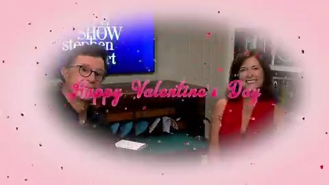 Wishing you and our favorite Late Show couple Evie & Stephen Colbert a Happy Valentine's Day! ❤️