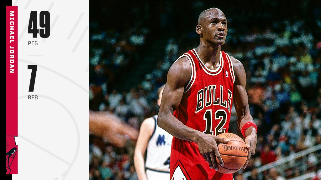 On this day in 1990, MJ wore No. 12 after someone stole his No. 23 jersey. Still got buckets though 🔥