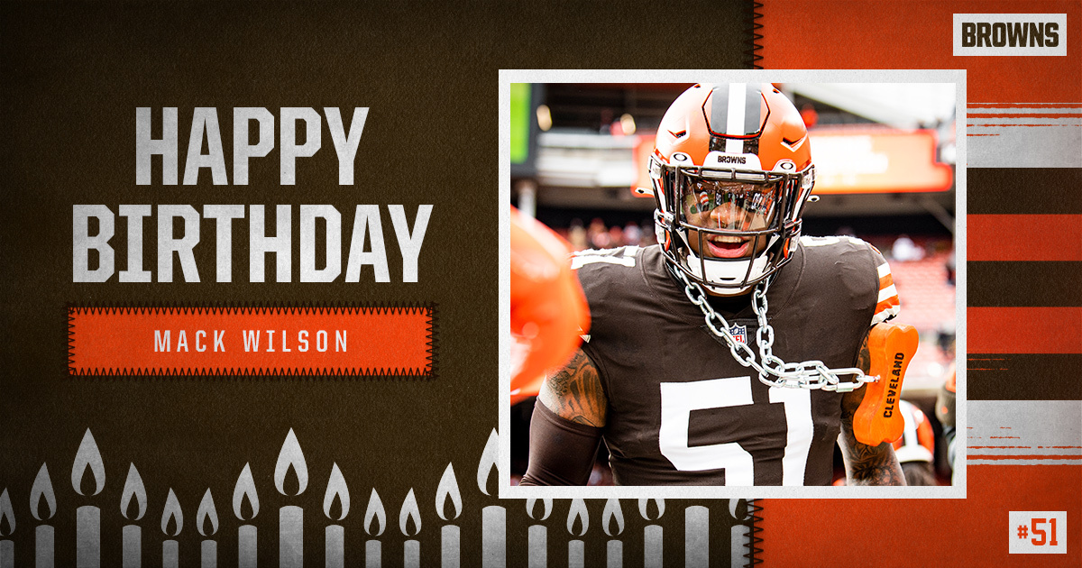 Replying to @Browns: RT to wish @5mackwilson1 a Happy Birthday! 🥳