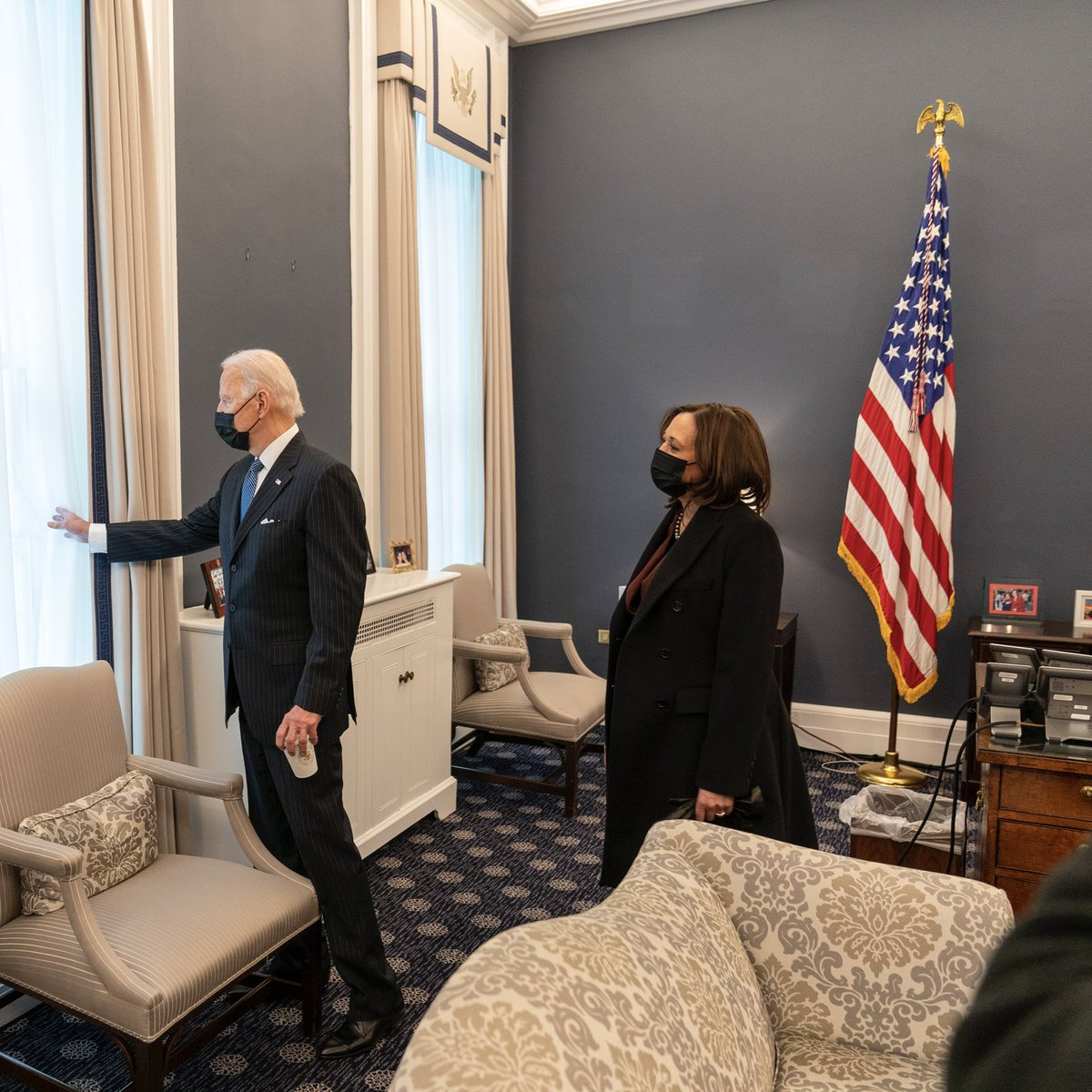 """During a @POTUS visit to my office (his old office), he showed me where - on Valentine's Day in 2009 - @FLOTUS wrote """"Joe loves Jill"""" on all the window panes. I love that story! To @POTUS, @FLOTUS, and all Americans: #HappyValentines"""