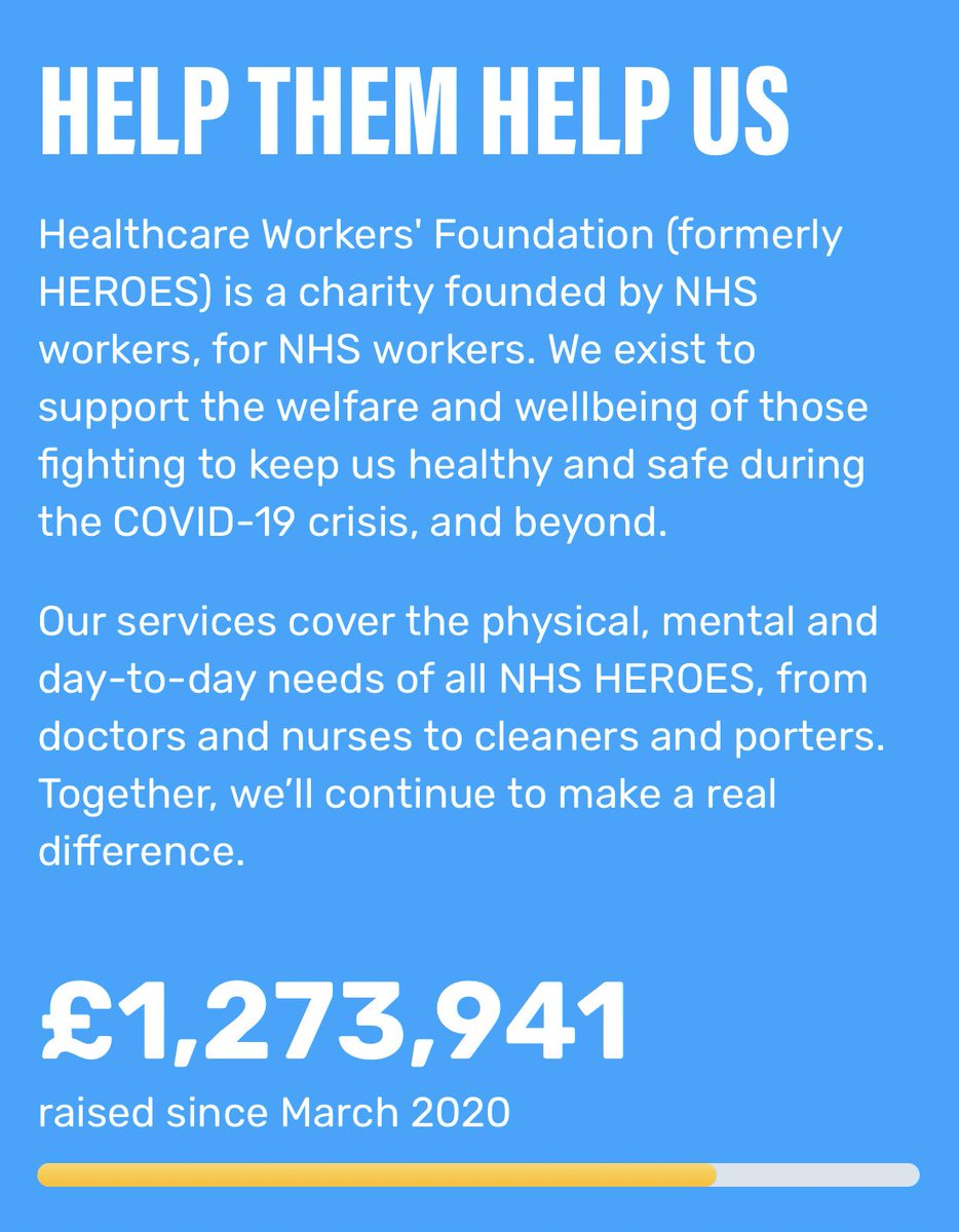 10 ways you can show you #LoveYourNHS this Valentine's Day #7 Please follow and support the Healthcare Workers Foundation @theHWF They are a charity that is dedicated to improving the lives of frontline NHS staff, and they've done some incredible work healthcareworkersfoundation.org
