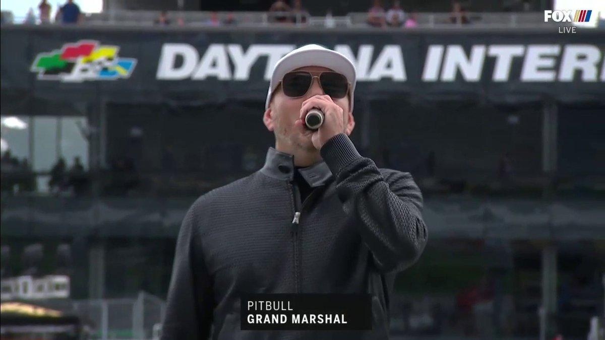 "IT. IS. TIME.  ""DRIVERS, START YOUR ENGINES!""- @pitbull   #DAYTONA500 | #NASCAR"