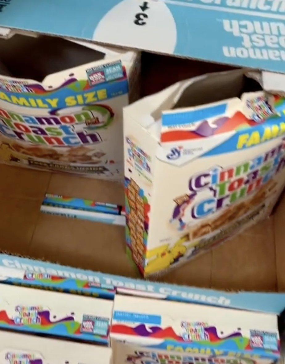 Cereali pokemon aperti