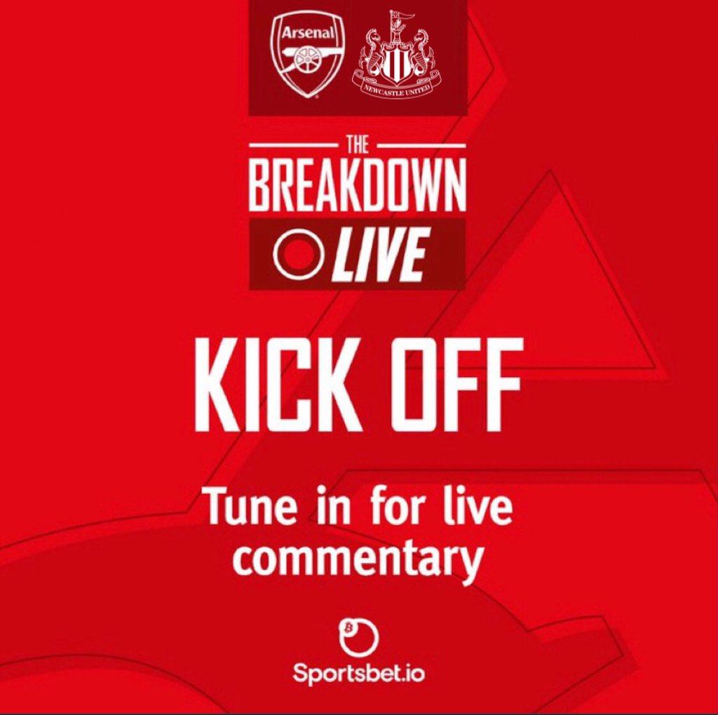 We're underway at Emirates Stadium!  🔴 0-0 🟡(1)  #ARSNEW