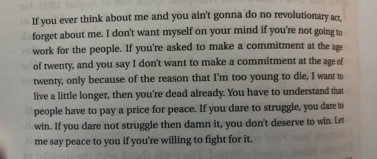 Replying to @_ceehayes: words of fred hampton