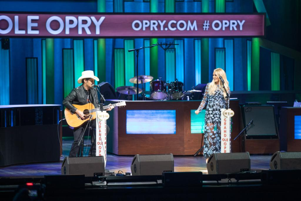 Replying to @opry: There's nothing like hearing @bradpaisley and @carrieunderwood sing some Conway Twitty and Loretta Lynn on the Opry stage! 👏🏻 #Opry95