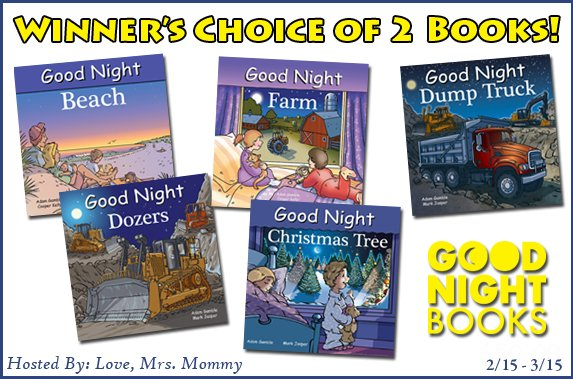 #Winners choice of 2 #books from @GoodNightBooks! Choice of #Farm, #ChristmasTree, #Beach #Dozers, and #DumpTruck! #Kids #Book #GIVEAWAY! #Contest #WIN #readbooks #educatekids #toddler #goodnightbooks @Love_MrsMommy