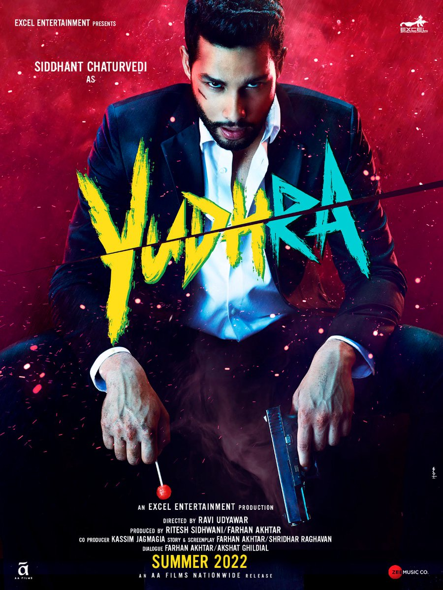 Death is no stranger to him. He is a man at war. #Yudhra Watch the announcement at 10.30 AM on   @SiddhantChturvD @MalavikaM_ @TheRaghav_Juyal @raviudyawar @ritesh_sid @ShridharR @Vishalrr @AAFilmsIndia @ZeeMusicCompany #AkshatGhildial