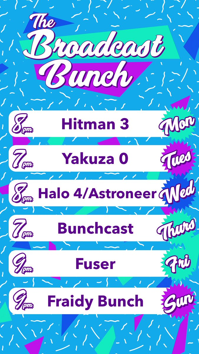 BroadcastBunch - Another week, another set of streams- Join us for Hitman 3, the Yakuza 0 finale, the bunchcast, and more!