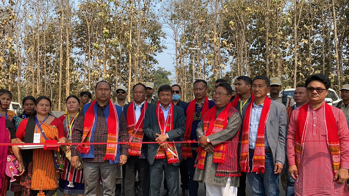 The perfect gift for 47th Karbi Youth Festival 2021.Mirjeng Muso-So welcome gate at Taralangso is being inaugurated today by Shri @TuliramRonghang CEM,KAAC.