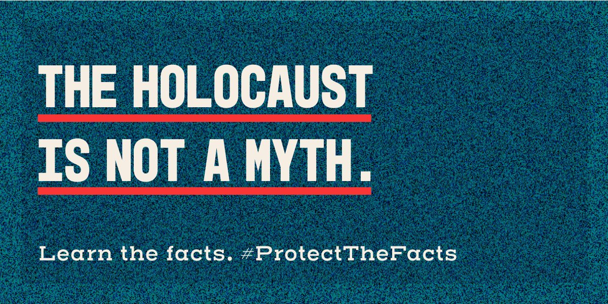 When left unchallenged, Holocaust distortion allows antisemitism to inch towards the mainstream.  It's up to each of us to ensure the #Holocaust is not denied, excused, minimised or misrepresented.  Learn what you can do to #ProtectTheFacts: