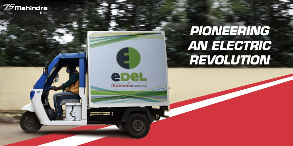 With a firm commitment to adopt environment-friendly solutions for a greener tomorrow, @Mahindralog_MLL  has launched EDel – a high-end cargo EV to electrify the last mile. A collective vision of the Future of Mobility.   #FUTURise  Read more: