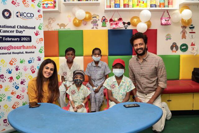 Today is International Childhood Cancer Day  @riteishd and myself visited Tata Memorial Hospital to meet the kids..  These children are fighting life threatening diseases and when a child is unwell it's not just the child but the entire family that is broken and in distress..