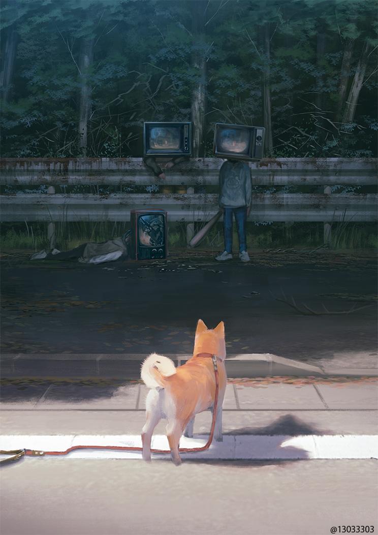 最近描いている絵はこのあたりの不穏な田舎と同じ世界観です。