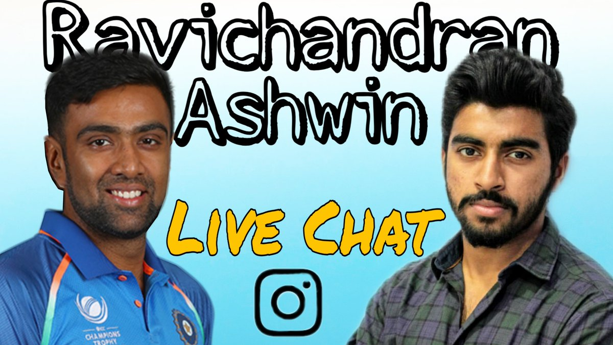 Every time he does well, I just remember our live chat! Takes me some time to process that I got a chance to actually talk live with this legend who hunts wickets for fun & gives nightmares for batsman!  In case u wanna watch   #INDvENG #Ashwin #ComeOnnAshh
