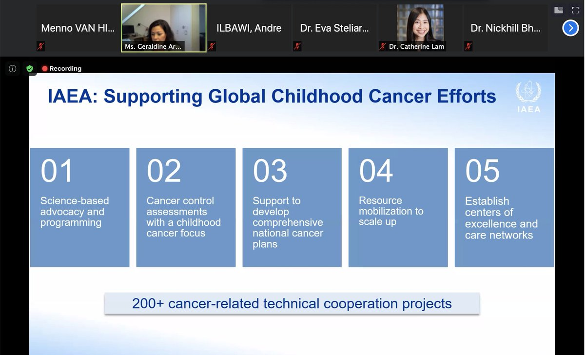 Such vital work being done by all those @iaeaorg, @StJudeResearch and @IntChildCancer, with more than 200 projects to act on cancer. Vital evidence to underpin action on childhood cancer. #ICCDay #ICCD2021