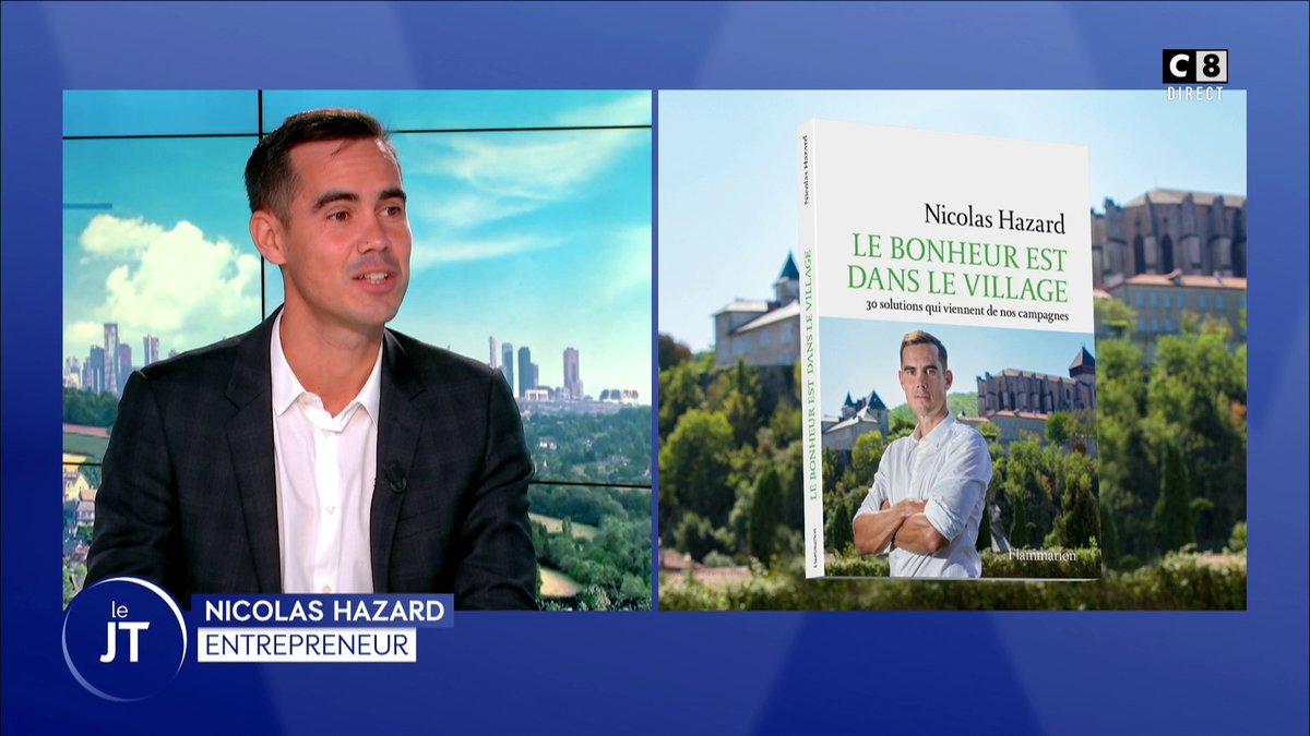 . @nicolashazard est notre invité aujourdhui sur notre plateau! Il nous parle de nos campagnes dans son livre Le bonheur est dans le village. 🌳🏞